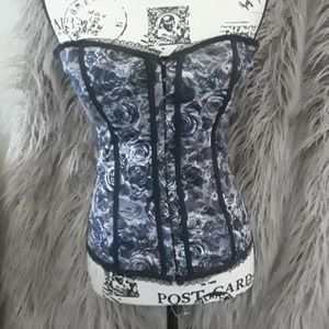 Classic Lace Overlay Corset